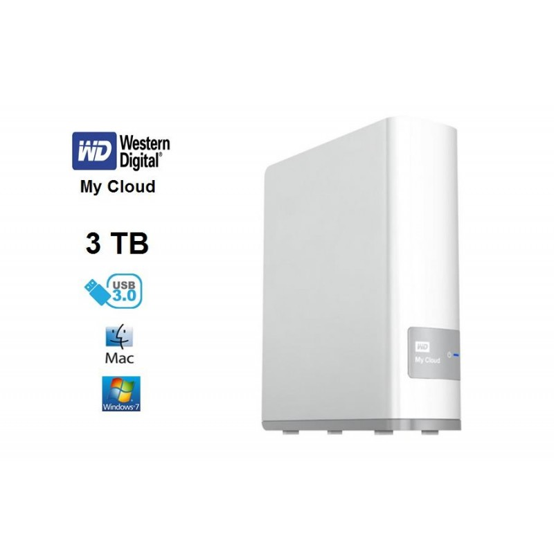 Disco NAS WD 3 TB My Cloud Gigabit  USB 3.0