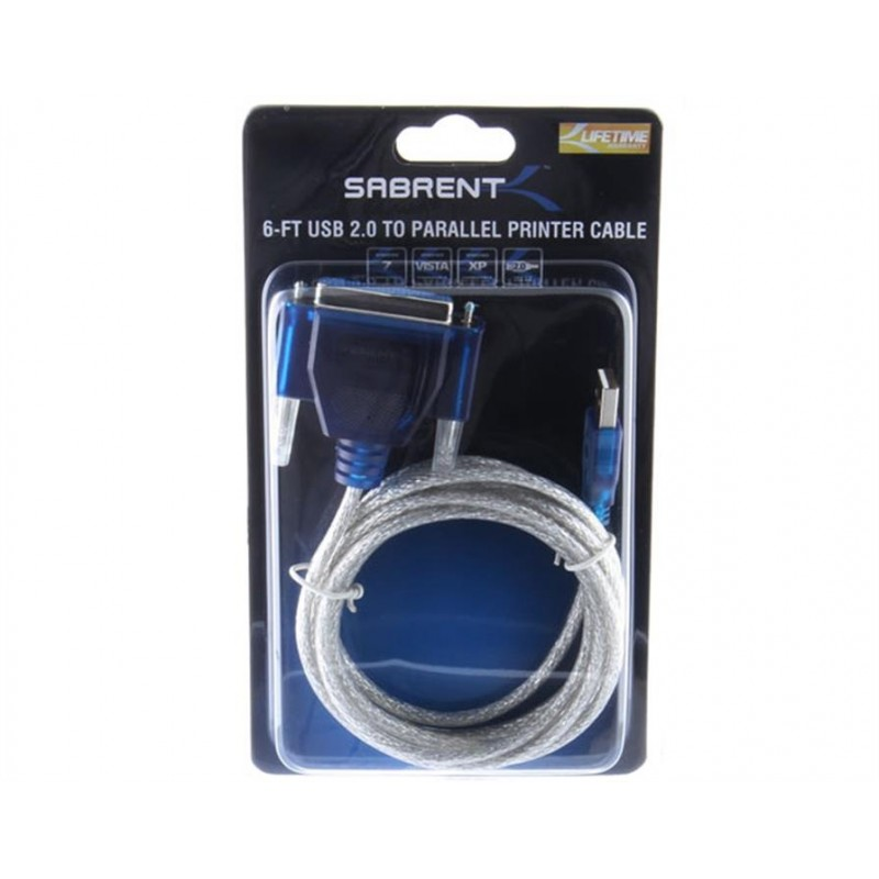 Cable USB 2.0 a Paralelo 1.8M Sabrent