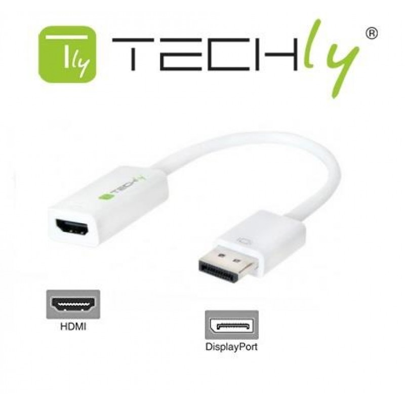 Adaptador Display Port a HDMI HP/DELLTechly