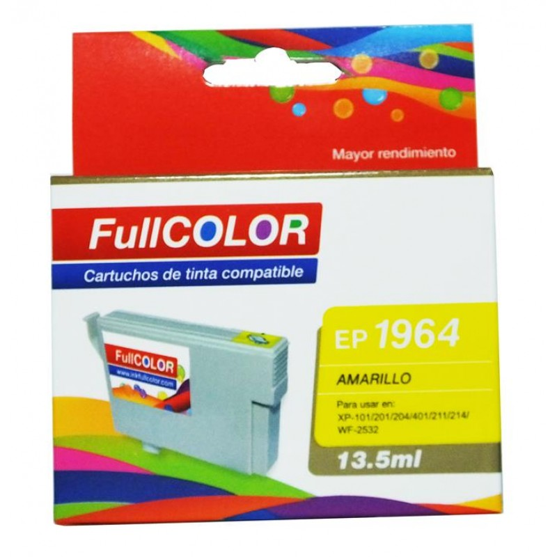 Cartucho compatible Epson 1964 Amarillo